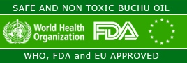 Safe and Non Toxic Buchu Oil - WHO, FDA and EU approved